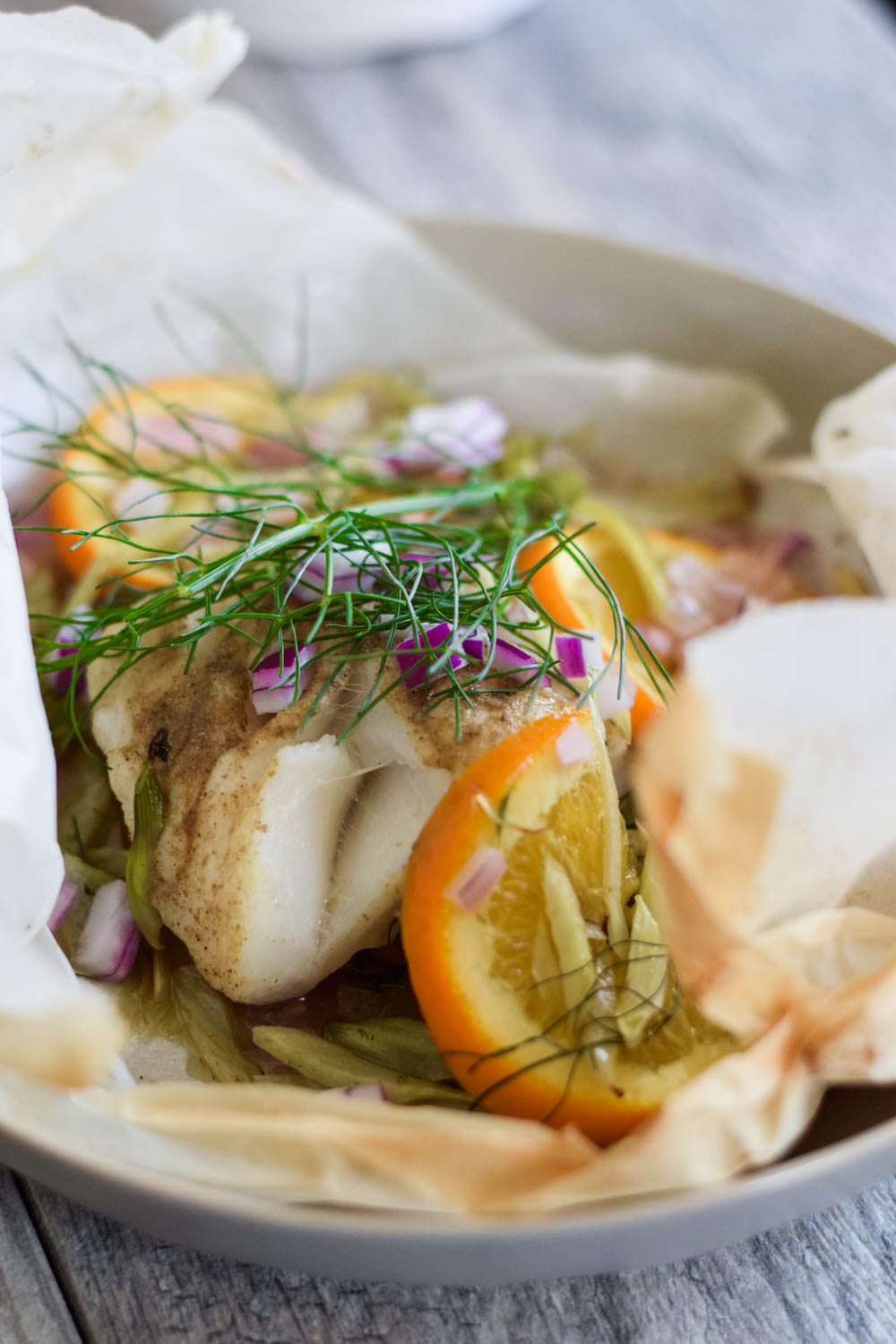 Fennel and Cod en Papillote