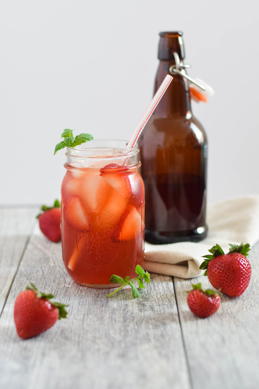 How to make kombucha at home - homemade strawberry kombucha made easy!