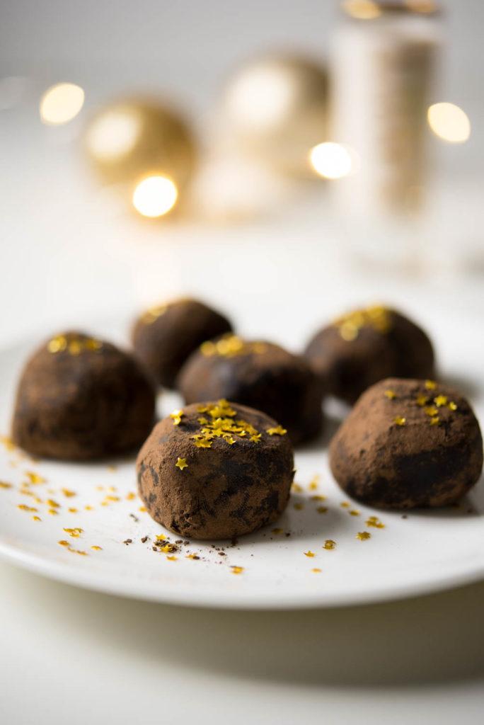 Vegan Gluten and dairy free truffles with stars